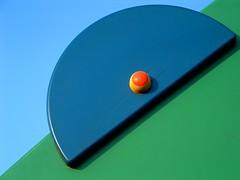 Half disc (marcobillo) Tags: blue abstract verde green colors blu cyan pure azzurro colori minimalistic