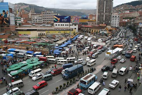 Tráfico en La Paz