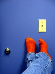 wheeeeeeeeeeeeeee! (JKönig) Tags: blue orange feet me socks self friday whore tgif wheeeeeee hehheh andyouknowwhat leavingfora5dayminigetawaytomorrow alreadyinwithdrawal davidtetercalledmeawhore thatmofoisabsolutelyright