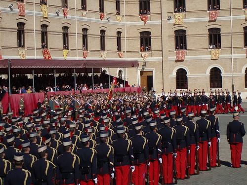 Jura de cadetes en la Academia Militar de General de Zaragoza