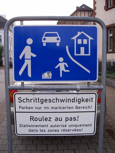 It is ok to walk run and cars and houses are allowed!