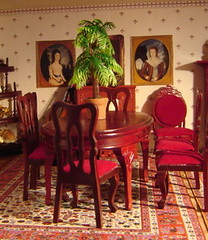 red dining room (Anna Amnell) Tags: diningroom dollhouse dollshouse nukkekoti nukketalo