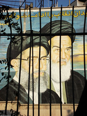 Khomeini and Khamenei behind bars