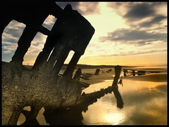 shipwreck at sunrise (jody9) Tags: beach topf25 oregon sunrise bravo shipwreck astoria peteriredale superbmasterpiece beyondexcellence