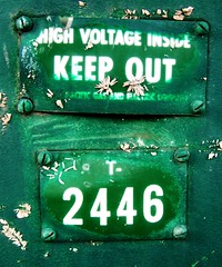 Green means...keep out? (by Darwin Bell)
