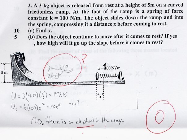 Funny/Silly/Stupid Answer to Exam/Test Question