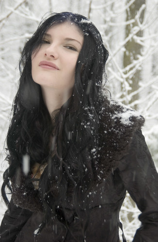 christina in the snow