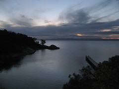 Freycinet Lodge View of Great Oyster Bay, Tasmania (Sir Francis Canker Photography ) Tags: voyage trip viaje sunset panorama sun sol beach beautiful strand landscape dawn bay soleil interestingness nice interesting sand tramonto honeymoon view pacific dusk good oz stones gorgeous horizon bonito sable taz australia playa paisaje best arena amanecer bahia excellent miel vista tasmania wineglass aussie tasman tassie sole paysage peninsula plage vue viaggio miele spiaggia beau pacifico paesaggio downunder horizonte anochecer hazards wineglassbay sabbia joli nozze noces lucena freycinet oceania arenzano excelente brusasco ured impressedbeauty underdownunder