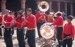 Furia Juvenil (Ilhuicamina) Tags: church festival musicians mexico fiestas bands michoacan musicos piknik purepecha tarecuato