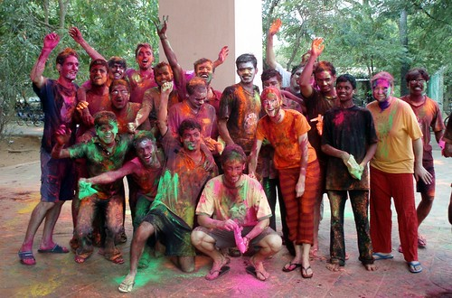 The cauvery team during holi festival