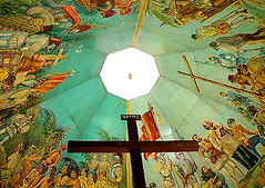 Magellan's Cross (Storm Crypt) Tags: travel history tourism painting asia catholic cross cityhall philippines religion cebu government historical priest christianity mass cebucity exploration magellanscross slavery visayas origins stonino friars colonization woodencross travelphotography atrocities catholics christianization wowphilipipnes humabon historicalinstitute ferdinandmangellan historyofthephilippines historicalcebu spanichcolonization historyofcebu rajahhumabon