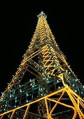Eiffel Tower (Foo Machi) Tags: terracotta philippines monuments nightscapes canon30d worldlightexpo