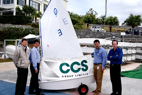 Presentation of Optimist Dinghy to Bermuda Optimist Dingy Association