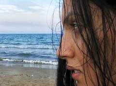 my love (sarak hellas) Tags: sea portrait people woman love beach valencia girl private mare spiaggia malvarrosa volto sarak mybeautifulgirlfriend lamiasplendidaragazza sarakhellas