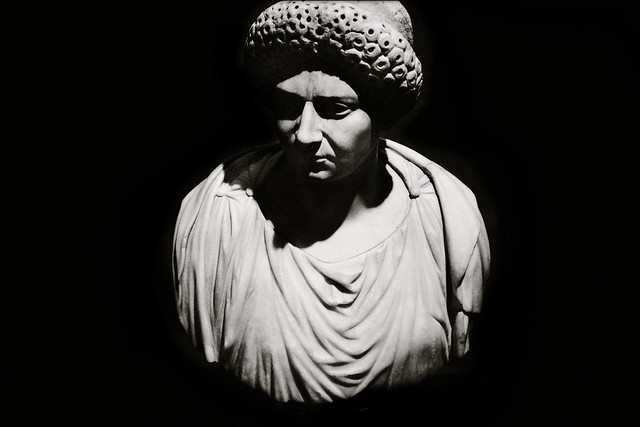 Imperial Rome Exhibit , Fernbank - Bust of a Flavian Woman