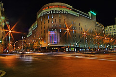 El Corte Ingles (oscar_tramor) Tags: barcelona night digital photoshop canon spain nacht catalunya dslr espagne dri spanien plazza elcorteingles dynamicrangeincrease nothdr 400d canon400d superbmasterpiece oscartramorphotography
