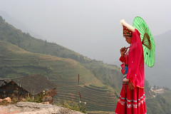 Melancholia (Ingiro) Tags: china woman dragon rice guilin terraces cina backbone guangxi longsheng ingiro abigfave holidaysvacanzeurlaub