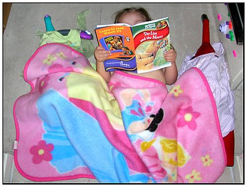 Reading to Vacuum (x2)! ;)