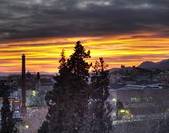 Sunset from home 2 (Paco CT) Tags: barcelona sunset red sky espaa atardecer spain rojo balcony olympus catalonia cielo catalunya balcon hdr 2007 terrassa e500 3xp photomatix qcfaj pacoct
