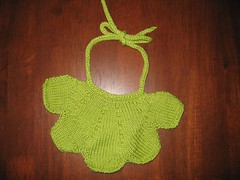Petal bib (n0nnahs) Tags: knitting babies bibs