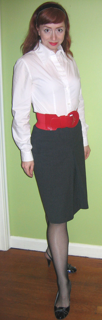 What I Wore 2Day: Patent Uniform