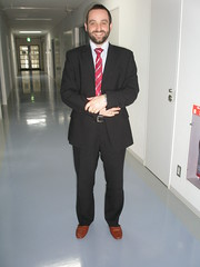 Rob in his lab slippers