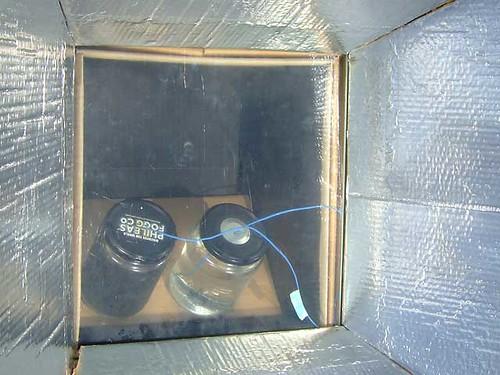 Water in solar cooker