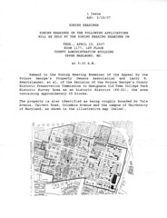 Historic District Hearing Announcement
