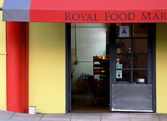 Side Entrance, Royal Food Mart (cyanatic) Tags: door city light urban delete10 delete9 delete5 delete2 store sandiego market delete6 delete7 save3 delete8 delete3 delete delete4 save save2 doorway lumiere artdeco chiaroscuro hillcrest mart foodmart cyanatic royalfoodmart 1on1urban