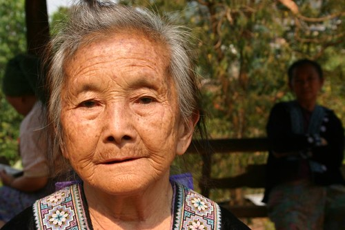 Older hill tribe lady. Chiang Mai Province.