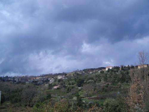 Murato, vu de la route de Rutali