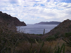 Looking north towards San Jose Island in the Sea of Cortez