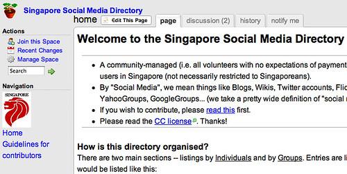 Singapore Social Media Directory