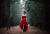 red is the new white (Spy-glass) Tags: ef200mmf118l 200l18 200l red wedding dress forest woods canon 5dmk3 5d3 girl