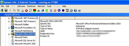 Microsoft Office license key information
