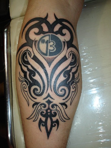 tribal extensions tattoo (Dejavu Tattoo Studio Chiangmai Thailand)