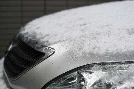 広島の初雪