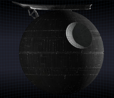 Death Star from the Star wars movies
