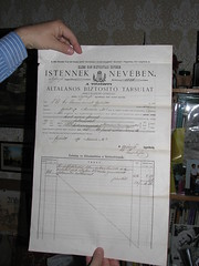 Insurance contract from 1870