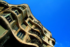 The Quarry (Dave G Kelly) Tags: barcelona blue espaa architecture digital canon 350d casa spain europe 2006 catalonia september artnouveau gaudi saturation gaud catalunya canoneos350d quarry faade catalua catalan casamila modernisme barcelones lapedrera passeigdegracia eixample barcelons passeigdegrcia faada interestingness425 1855lens 10faves interestingness35 september2006 interestingness95 i500 davegkelly