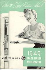 How To Enjoy Better Meals (Cowtools) Tags: green vintage fridge ephemera illo ge 1949 peasantblouse interestingness471 i500 ownersmanual suburbanality