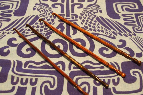 Rosewood Crochet Hooks