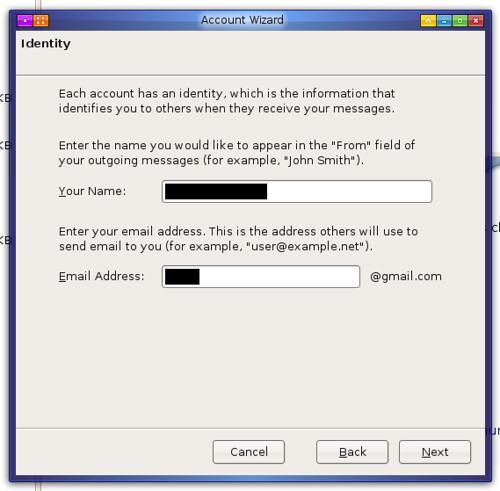 deuxième étape de création d'un compte gmail dans Thunderbird avec l'assistant qui va bien