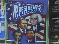 The Cover of a Presidents Sticker Book