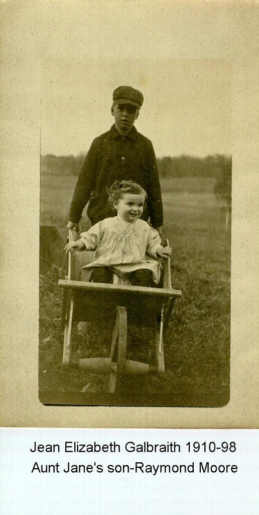 Jean Elizabeth Galbraith with cousin Raymond Moore