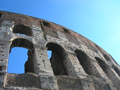 The Colosseum (La Fra' Photography) Tags: old blue sky italy rome roma monument stone ancient view circus colosseum romans
