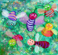 Illustration Friday: Buzzzzzzzzzzzzzz (mion.nl) Tags: illustration digital buzz insects illustrationfriday childrensart diamondclassphotographer flickrdiamond copyrightmionnl mionnl