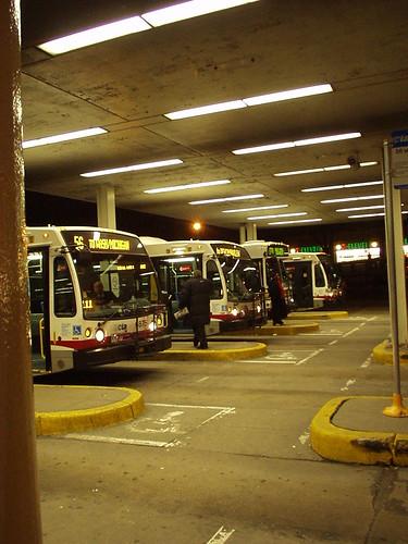 Jefferson Park CTA Bus/El/Metra terminal.