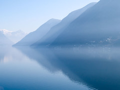 Planet Earth is blue (David/. PRO) Tags: morning blue lake water 50200mm zd ceresio olympuse1 wwwsnowhengenet