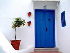 The blue door, Salobrena, Andaluca, Spain (frotos (Fred Shively)) Tags: travel costa photography spain photos andalucia photograph tropical bluedoor salobrea flickrsbest travelandplaces colorphotoaward vanagram